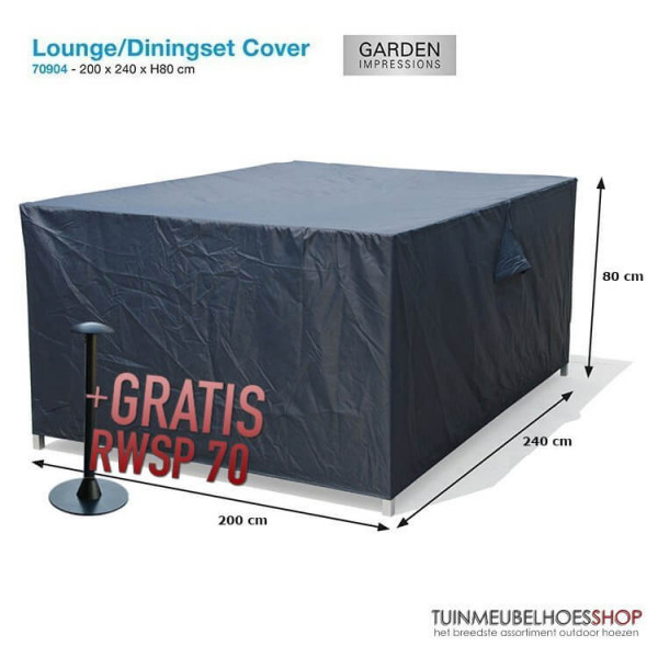 Lounge/Diningset cover 240 x 200 H: 80 cm