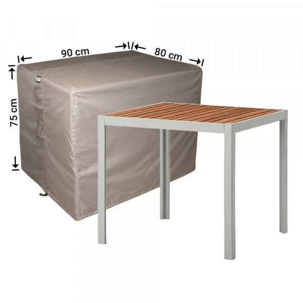 Outdoor table protection cover 90 x 80 H: 75 cm