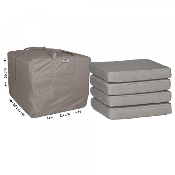 Storage bag for outdoor cushions 80 x 80 H: 65 cm