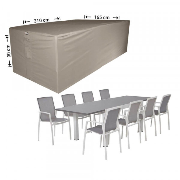 Outdoor dining set cover 310 x 165 H: 90 cm