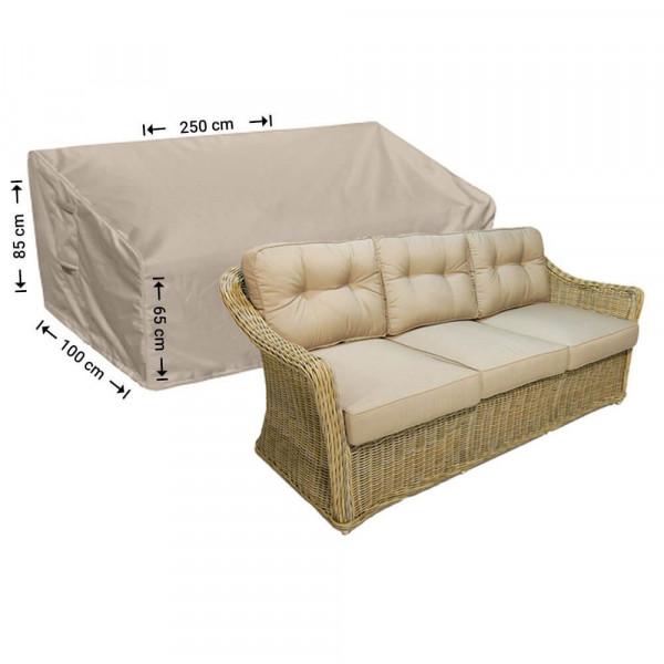 Garden sofa cover shaped 250 x 100 H: 85 / 65 cm