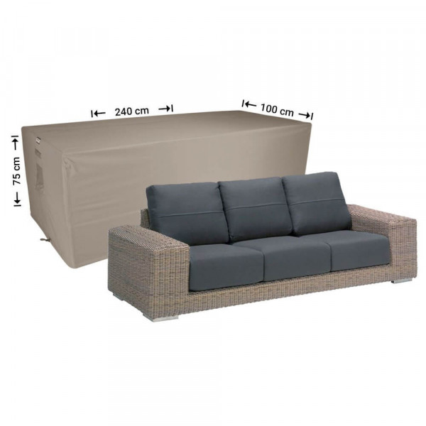 Weather cover for lounge sofa 240 x 100 H: 75 cm