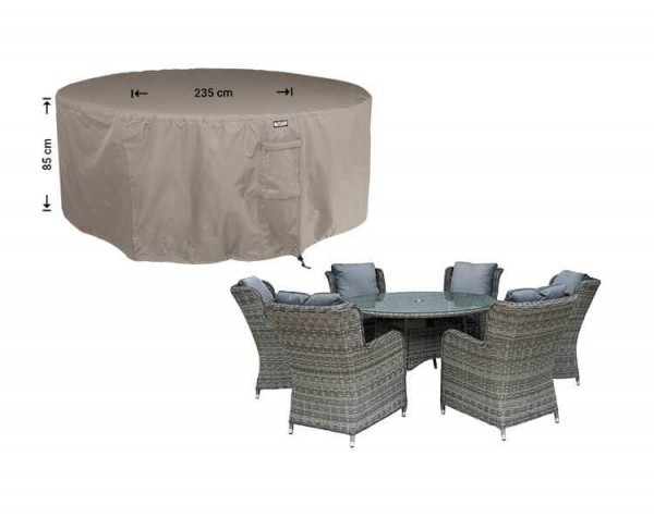 Round cover for garden furniture Ø: 235 cm & H: 85 cm