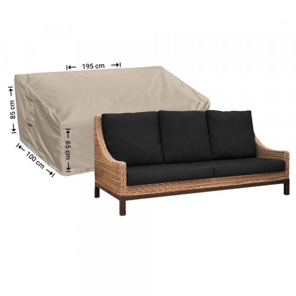 Cover for lounge sofa garden 195 x 100 H: 85 / 65 cm