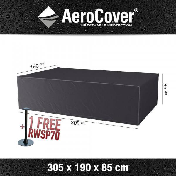 Rain cover for rectangular patio furniture 305 x 190 H: 85 cm
