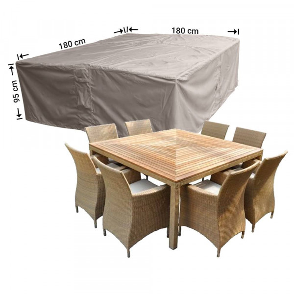 Protection cover outdoor dining set 180 x 180 H: 90 cm