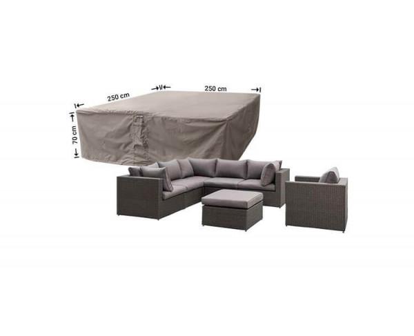 Rattan lounge set cover 250 x 250 H: 70 cm