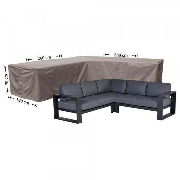 Cover for rattan corner sofa 260 x 260 x 100, H: 70 cm
