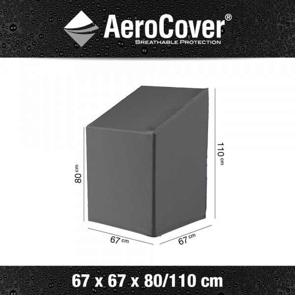 Cover for stackable or adjustable chairs 67 x 67 H: 110 cm
