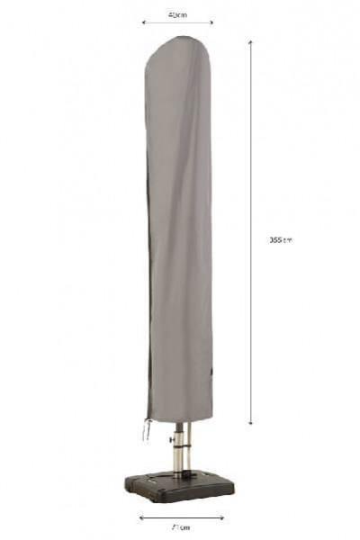 Protection cover for garden parasol H: 355 cm