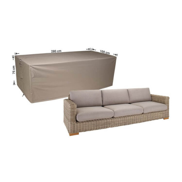 Cover for lounge sofa 280 x 100 H: 75 cm
