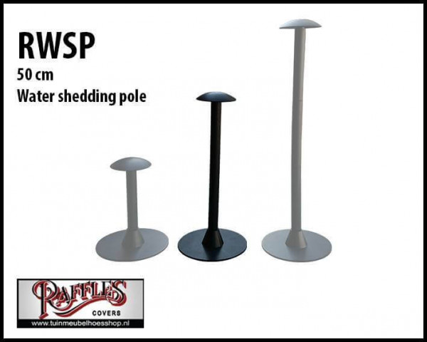 Water shedding pole for water drainage