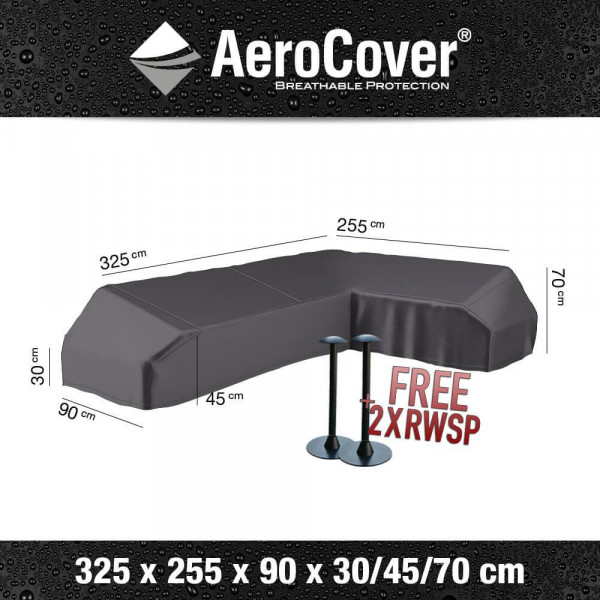 Cover for platform lounge sofa 325 x 255 x 90 H: 30/45/70 cm