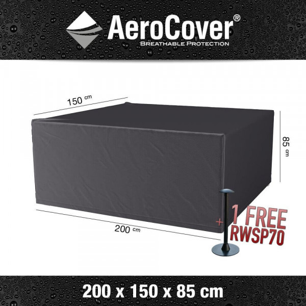 Outdoor dining set cover 200 x 150 H:85 cm