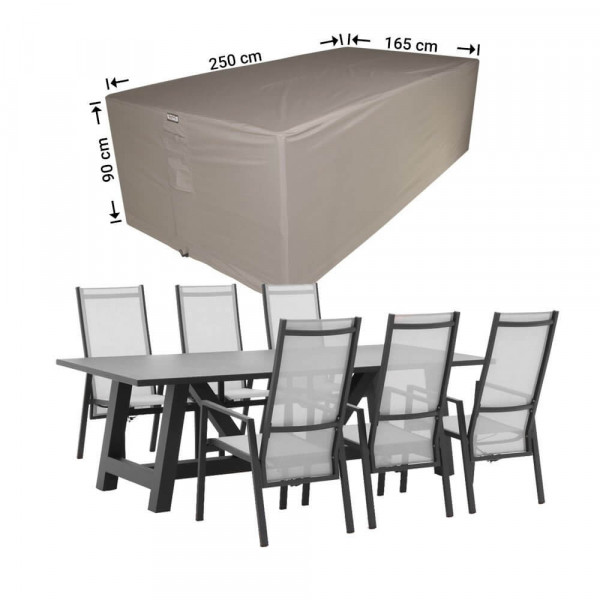 Durable patio furniture cover 250 x 165 H: 90 cm