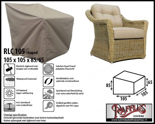 Weather cover for lounge chair 105 x 105 H: 85 /65 cm