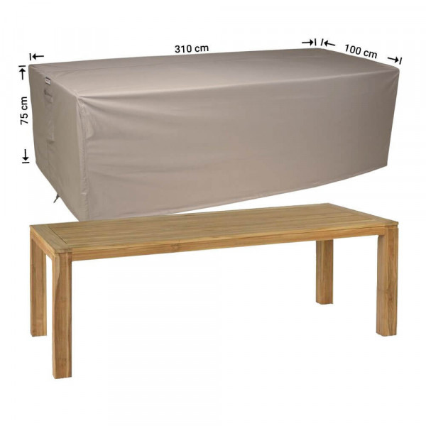Protection cover for garden table 310 x 100 H: 75 cm