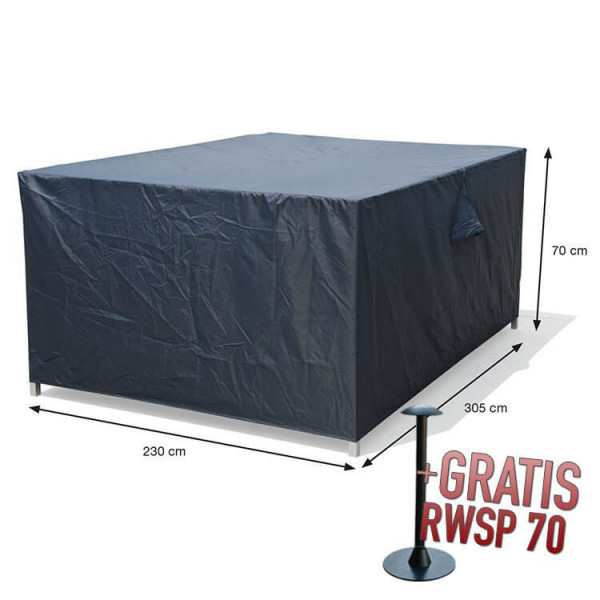 Complete loungeset cover 305 x 230 H: 70 cm