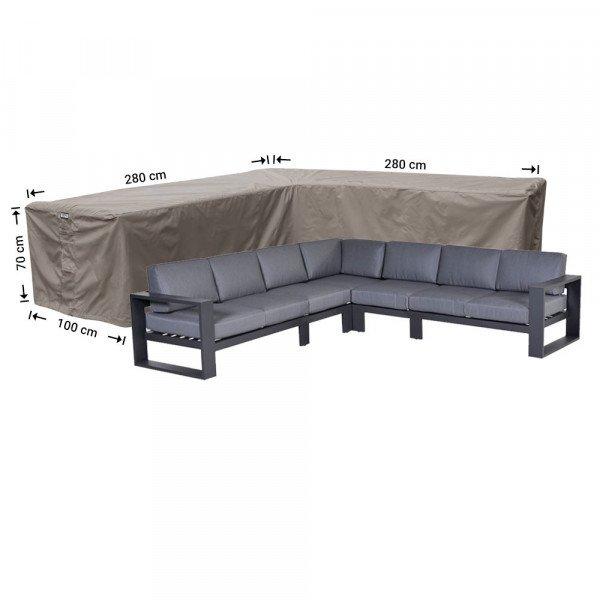 Garden cover for corner sofa 280 x 280 x 100, H: 70 cm