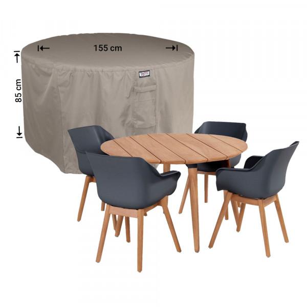Garden dining set cover round Ø: 155cm & H: 85 cm