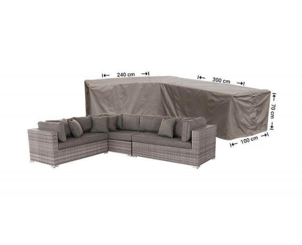 Cover for L-shaped corner sofa 300 x 240 x 100, H: 70 cm
