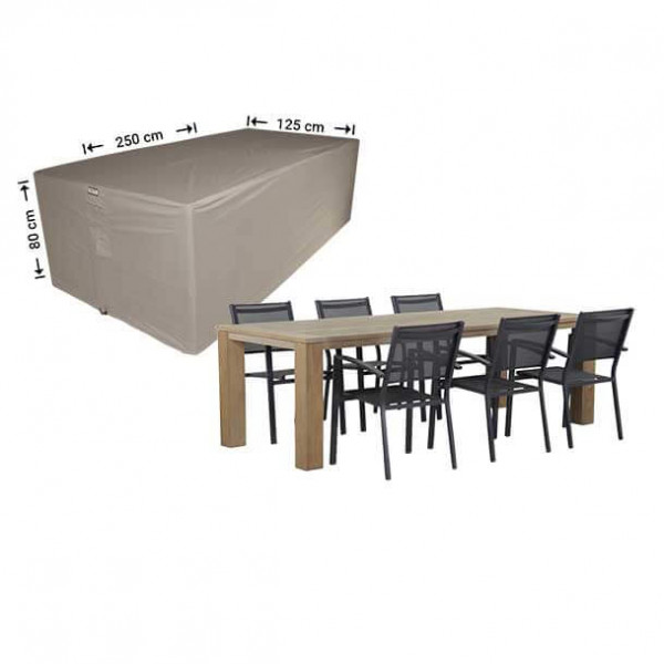 Cover for outdoor dining set 250 x 125 H: 80 cm