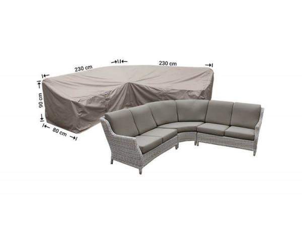 Corner sofa protective cover dining 230 x 230 x 80 H: 90 / 65 cm