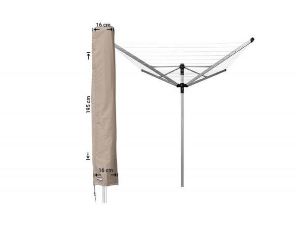 Cover for a rotary clotheslines 16 x 16 H: 195 cm