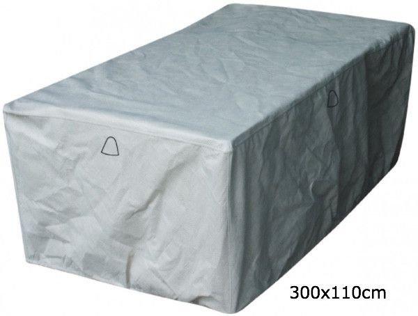 Protection cover for rectangular garden table 300 x 110 H: 75 cm