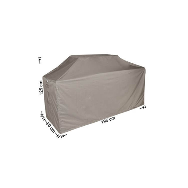 Universal cover for barbecue 195 x 80 H: 125 / 115 cm