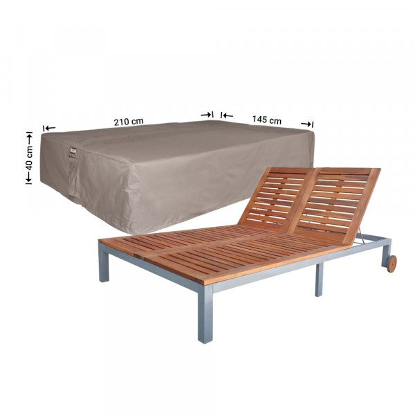 Cover for a double sun lounger 210 x 145 H: 40 cm