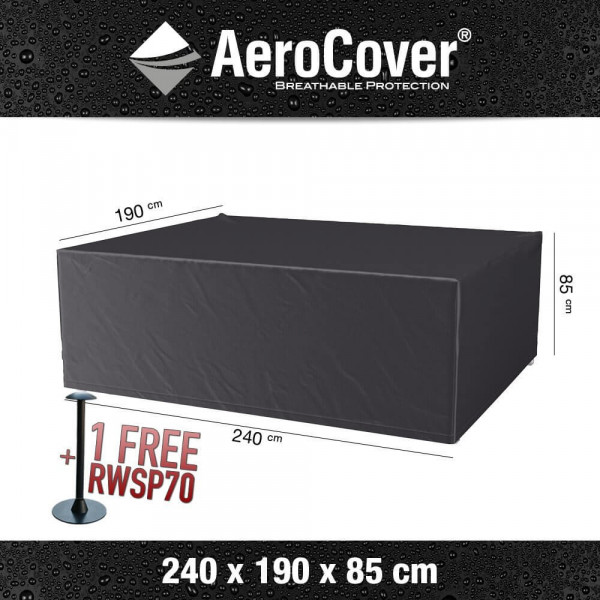 Cover for rectangular table and chairs 240 x 190 H: 85 cm