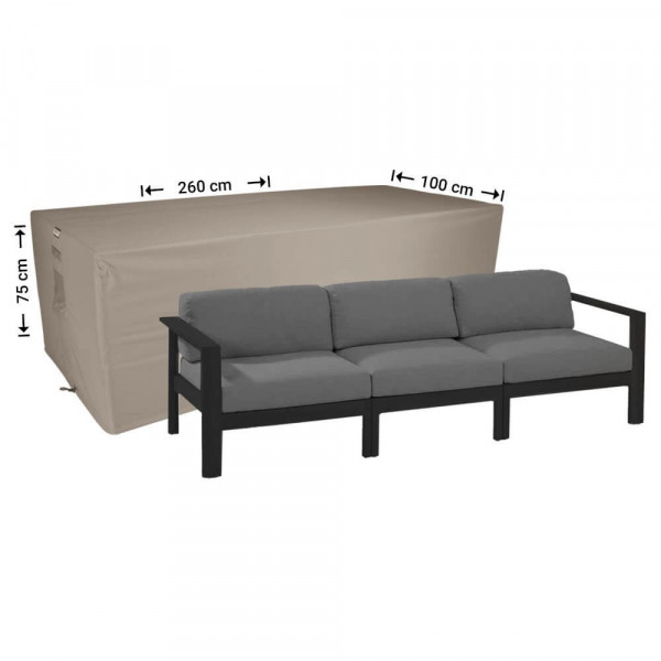 Outdoor cover for lounge sofa 260 x 100 H: 75 cm