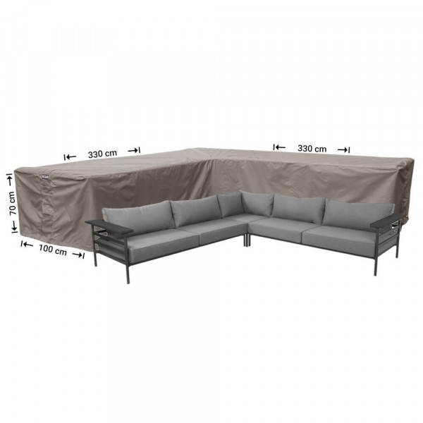 Protection cover for corner sofa 330 x 330 x 100, H: 70 cm