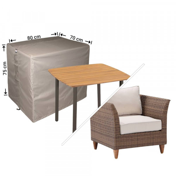 Outdoor protection cover 90 x 90 H: 75 cm