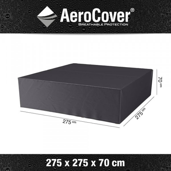 Weather protection cover for a lounge set 275 x 275 H: 70 cm